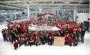 1,000th body for 2012 Tesla Model S on display at Tesla Motors factory, Fremont, CA, Oct 28, 2012