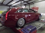 1,200-horsepower Hennessey Cadillac CTS-V Wagon on the dyno