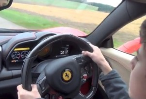 14-year-old drives dad's Ferrari 458 Italia.