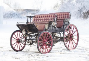 Is this 1896 horseless carriage the world's very first hybrid car?