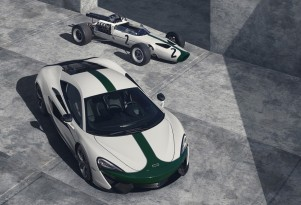 1966 McLaren M2B Formula One car and 2016 McLaren 570S