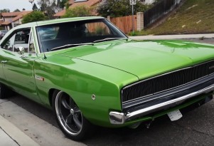 1968 Dodge Charger fitted with the V-10 engine from a Viper