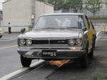 1972 Nissan Skyline 2000 GT-R coupe, Nissan Heritage garage, Zama, Japan
