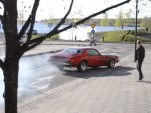 1975 Chevrolet Camaro Burnout Crash