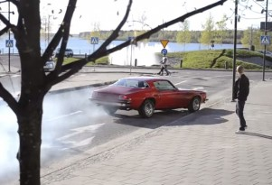 1975 Chevrolet Camaro Burnout Crash