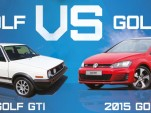 1985 GTI vs. 2015 GTI - Image via VWPartsVortex.com