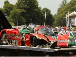 1989 Mazda 767B crashes at the 2015 Goodwood Festival of Speed - Image via Robert Stokes/Jalopnik