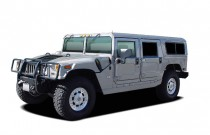 2004 HUMMER H1 4-Passenger Open Top Hard Doors Angular Front Exterior View