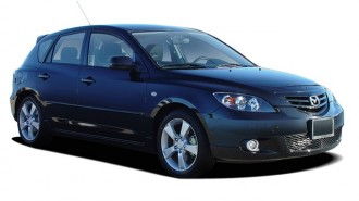 2004 Mazda MAZDA3 5dr Wagon s Manual Angular Front Exterior View