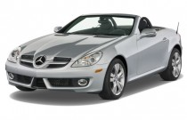 2009 Mercedes-Benz SLK Class 2-door Roadster 3.5L Angular Front Exterior View