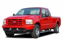 "2003 Ford Super Duty F-250 Supercab 142"" XLT Angular Front Exterior View"