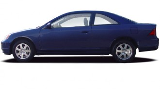 2003 Honda Civic 2-door Coupe EX Auto Side Exterior View