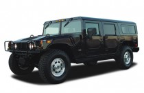 2003 HUMMER H1 4-Passenger Open Top Hard Doors Angular Front Exterior View