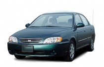 2003 Kia Spectra 4-door Sedan Base Auto Angular Front Exterior View