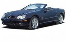 2003 Mercedes-Benz SL Class 2-door Roadster 5.0L Angular Front Exterior View
