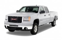 "2010 GMC Sierra 2500HD 2WD Crew Cab 153"" SLE Angular Front Exterior View"