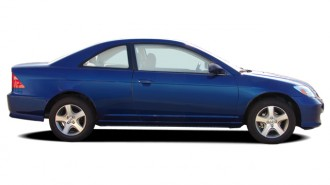 2004 Honda Civic 2-door Coupe EX Auto Side Exterior View