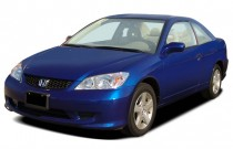 2004 Honda Civic 2-door Coupe EX Auto Angular Front Exterior View