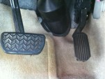 2004 Toyota Prius accelerator pedal after being shortened as part of sudden-acceleration recall