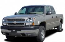 "2005 Chevrolet Silverado 2500HD Crew Cab 153"" WB 4WD LS Angular Front Exterior View"