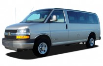 "2006 Chevrolet Express Passenger 1500 135"" WB RWD Angular Front Exterior View"