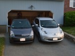 2006 Toyota Prius and 2015 Nissan Leaf  [photo: John C. Briggs]