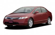 2007 Honda Civic Sedan 4-door AT EX Angular Front Exterior View