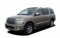 2007 Infiniti QX56 4-door AWD Angular Front Exterior View