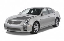 2008 Cadillac STS-V 4-door Sedan Angular Front Exterior View
