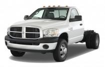 "2008 Dodge Ram 3500 4WD Reg Cab 167.5"" WB 84"" CA Angular Front Exterior View"