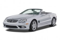 2008 Mercedes-Benz SL Class 2-door Roadster 5.5L V8 Angular Front Exterior View