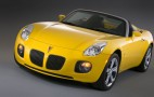 Last Pontiac Solstice and Saturn Sky roll off the line