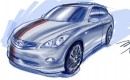 2008 SEMA Infiniti EX preview sketch