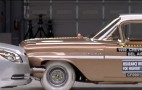 Head-On Crash: 2009 Chevrolet Malibu vs '59 Bel Air
