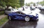 2009 Lamborghini Gallardo LP560-4 Spyder Crashes In The Wet