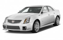 2010 Cadillac CTS-V 4-door Sedan Angular Front Exterior View