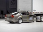 2010 Chevrolet Malibu - IIHS rear impact with semi-trailer, severe underride