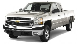 "2010 Chevrolet Silverado 2500HD 2WD Ext Cab 157.5"" LT Angular Front Exterior View"