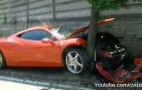 Video: 2010 Ferrari 458 Italia Crashes One Day After Leaving Factory