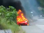 2010 Ferrari 458 Italia on fire