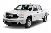 "2010 GMC Sierra 1500 2WD Crew Cab 143.5"" SLE Angular Front Exterior View"
