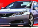 2010 Honda four-door coupe illustration
