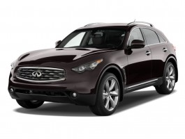 2010 Infiniti FX50 AWD 4-door Angular Front Exterior View