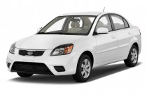 2010 Kia Rio 4-door Sedan Auto LX Angular Front Exterior View