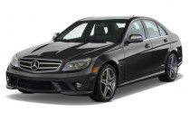 2010 Mercedes-Benz C63 AMG 4-door Sedan 6.3L AMG RWD Angular Front Exterior View
