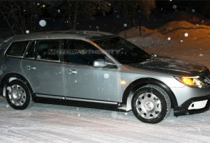 2010 Saab 9-3X crossover spy shots