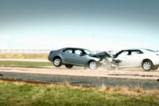 2010 Saab 9-5 head-on crash test