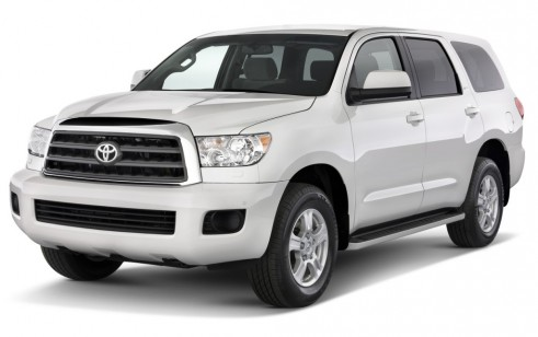 2010 Toyota Sequoia 4WD V8 5-Spd AT SR5 (Natl) Angular Front Exterior View