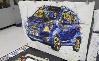 Artist Uses Radio-Control Cars To Paint 2013 Chevrolet Spark