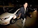 Enrique Murciano with 2011 Chevy Volt at Global Green Pre-Oscar Party, Feb 2011